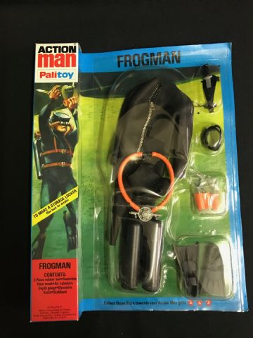 VINTAGE ACTION MAN - FROGMAN (Black) - Locker Box Card